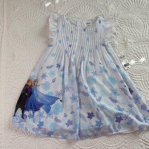 Disney frozen toddler girls white dress